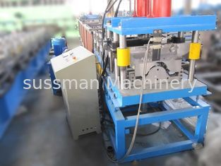 Round Ridge Cap Roll Forming Machine Hydraulic Punching Anti - Rust Rollers