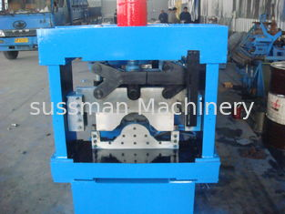 Blue Manual Hydraulic 3 Ton Decoiler Roof Tile Roll Forming Machine 5 -12 m/min