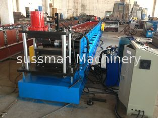 China Galvanized Steel M Purlin Roll Forming Machine PLC Panasonic Production Speed 15m/min supplier