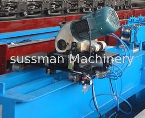 China Gearbox Transmission PU Foam Shutter Door Roll Forming Machines With Saw Cutting supplier