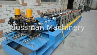 China 12 Roller Stations Metal Sheet Shutter Door Roll Forming Machines With 3 Ton Manual Uncoiler supplier