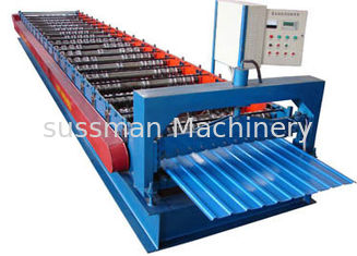 China Color Coated Sheet Shutter Door Roll Forming Machine with 17 Forming Groups supplier