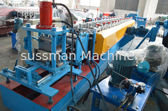 China Forming Speed 15m / Min Door Frame Roller Making Machine Gearbox Driving System supplier