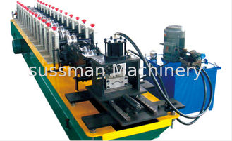 China Chain Transmission Iron Rolling Shutter Door Roll Forming Machine 12 Stations supplier
