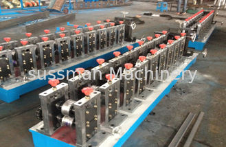 China Galvanized Cold Steel Sheet PU Shutter Door Rolling Form Machine PLC Control System supplier