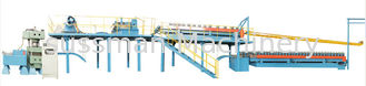 China Automatic Color Steel Sheet Polyurethame PU Sandwich Panel Production Line With Double belt machine supplier