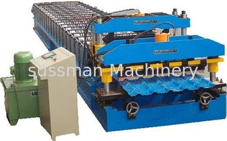 China Hydraulic Power Automatic Metal Roofing Sheet Glazed Tile Making Machine 5 Ton Manual Decoiler supplier