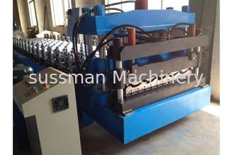 China Single Chain Drive Metal Roofing Sheet Roll Forming Machine 8m * 1.6m * 1.2m supplier