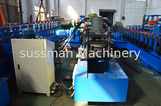 China Galvanized Steel Solar Strut Roll Former Machine PLC Touch Screen Control supplier