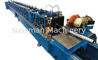 China Size Quick Change Cassette Tye Round Pipe  Roll Former Machine Flying Track Sawing Cutting supplier