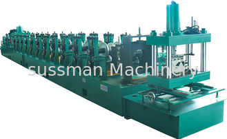 China High Speed 0-25m/min 500mm Coil Width W Beam Guardrail Roll Forming Machine 10mpa Hydraulic Pressure supplier