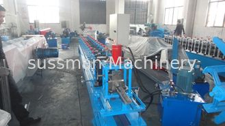 China 3 inch 10-15m / min Production Capacity Door Bottom Rail Cold Roll Forming Machine With CE Certificated supplier