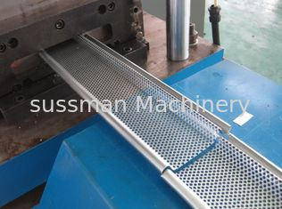 China 0.6mm - 1.5mm Galvanized Steel Rolling Shutter Door Roll Forming Machine Hydraulic Pre-punching supplier