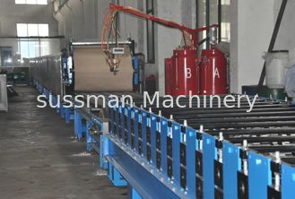 Automatic Polyurethane Sandwich Panel Manufacturing Line With 1220mm Coil Width