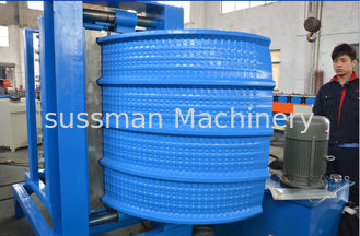 China 8-10m/min Speed Corrugated Roof Panel Criming and Curving Machine for 0.4-0.8mm Metal Sheet supplier