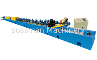 China 46 Roller 0.27 - 0.4mm Thick PU Shutter Door Roll Forming Machine With 1.5mm Tolerance supplier