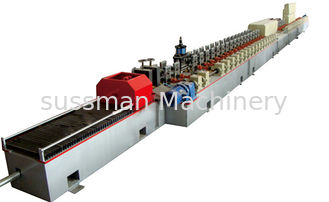 China Fly Saw Cutting HRC58-62 11Kw Main Power PU Shutter Door Roll Forming Machine 380V 50HZ supplier