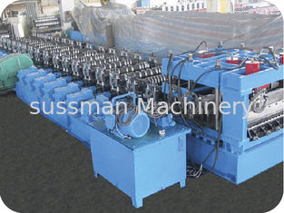 China PLC Touch Screen Control Roll Forming Equipment For Steel Silo Roll Former supplier