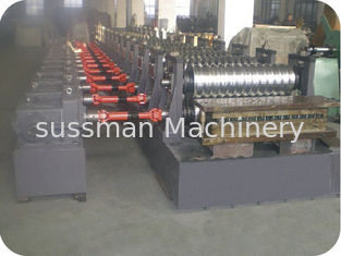 China 380V 50Hz 3 Phase Metal Steel Cold Roll Forming Machine with 18 Roller Stands supplier