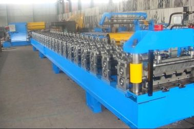 China Blue High Speed Roof Panel Roll Forming Machine / Roll Former Machine supplier