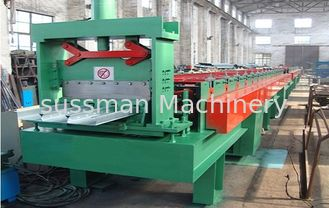 China 7.5KW 380V 50Hz Floor Deck Roll Forming Machine with PLC Control 0 - 12 m / min supplier