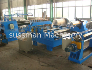 China 11Kw Motor Power  Cut to length Line Steel Slitting Machine High Speed Carbon Steel  Thickness 0.25 - 1.2mm supplier