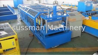China Steel Standing Seam Roofing Sheet Roll Forming Machine High Speed supplier