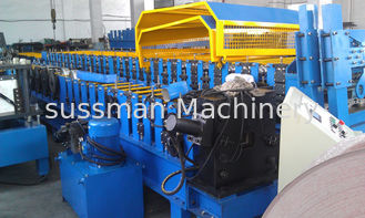 China High Speed Downspout Roll Forming Machine 50 HZ 1 Inch Chain Drive supplier