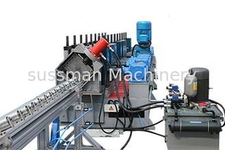 China 1.5mm-2mm Galvanized Steel Vineyard Post Roll Forming Machine  Efficiency Hydraulic Punching and Gearbox Drive supplier