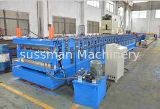 China Double Layer Colour coated Steel Roof Panel Wall Panel Roll Forming Machine PLC Control Automatic supplier