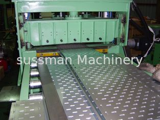 China Touch Screen PLC Control Cable Tray Machine 20 Roller Stations Roll Forming Machinery supplier