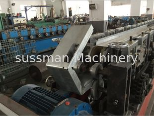 China Galvanized Steel Curtain Fire Damper Frame Flange Roll Forming Machine Production Line Speed 6-10m/min supplier