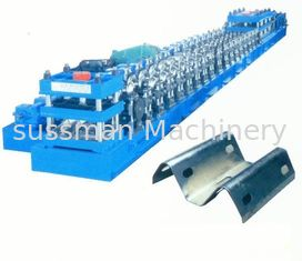 China Galvanized Steel 2 - Space W Beam Guardrails Roll Forming Machine Hydraulic Gearbox Drive supplier