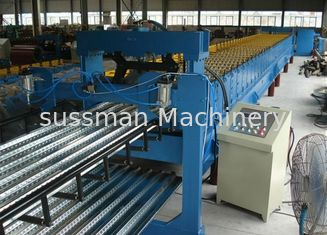 0.7-1.5 Thickness Steel Roof Floor Deck Steel Roll Forming Machine For Construction High Speed Production Line