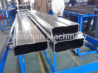 China Galvanized Steel Box Beam Rack Roll Forming Machine 8-10m / Min With 15 Stations supplier