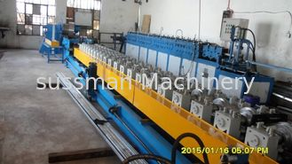 China Gearbox Drive Door Frame Roll Forming Machine 8.7m * 1.8m * 1.4m Hydraulic Cutting supplier