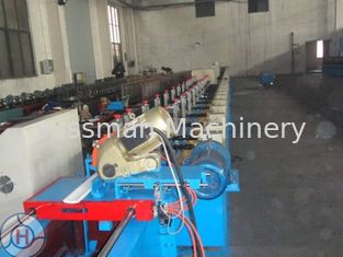 Color Coated Galvanized Steel Shutter Door Roll Forming Equipment Double - Layer PU
