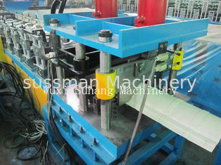 China Roof Ridge Cap Roll Forming Machine 0.3 - 0.6mm Corrugated Sheet Roll Forming Machine supplier