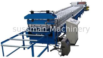 China 0.6 - 1.5mm 30KW Deck Floor Cold Roll Forming Machine For Color Steel Tile supplier