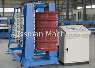 8 - 10m/min Curving Speed Cr40 Mould Crimping Curving Roll Forming Machine Chain Drive Transmission