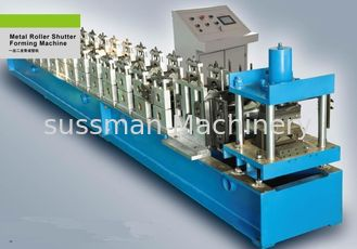 China Metal Shutter Door Slat Roll Forming Machine supplier