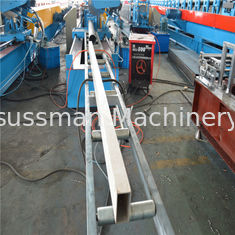China High Speed Rectangle Welding Tube Cold Roll Forming Machine Fly Saw Cutting supplier