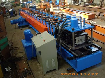 Gray Color Fully Automatic 13 Stations C Purlin Channel Steel Roll Forming Machine 12m / min