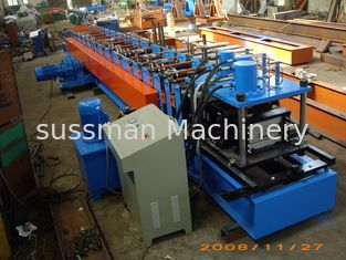 China Galvanized Steel C Shaped Purlin Cold Roll Forming Equipment With PLC Panasonic supplier