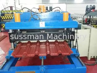 China Galvanized Metal Sheet Roof Panel Roll Forming Machine Forming Speed 12m / Minute supplier
