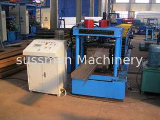 PLC Control Z Purlin Roll Former Machine For 0.5 - 3 mm Thickness Material