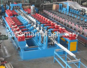 China 12-20m/min CZ Purlin Roll Forming Machine 3 Ton 7.5Kw Hydraulic Power supplier