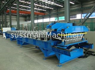 China PLC Touch Screen Control Glazed Tile Roll Forming Machine 18Roller Stations supplier