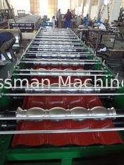 Material Thickness 0.3 - 0.8mm Glazed Tile Roll Forming Machine 380V 50Hz 3 Phase