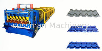 China Galvanized Steel Roof Panel Double Layer Roll Forming Machine 12--15 m / Min supplier